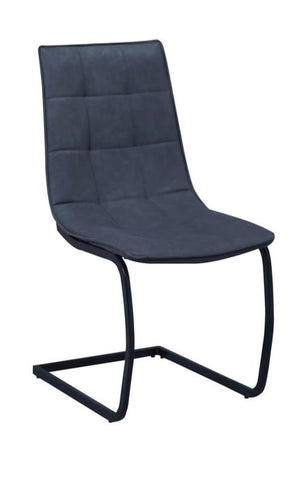 Chair Only - Ash Grey Vinyl with Black Metal Legs  C-1831