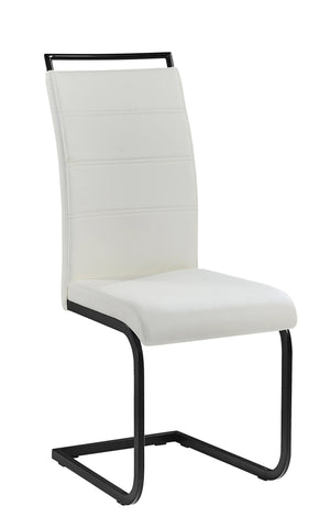 Chair Only - White Vinyl  C-1866