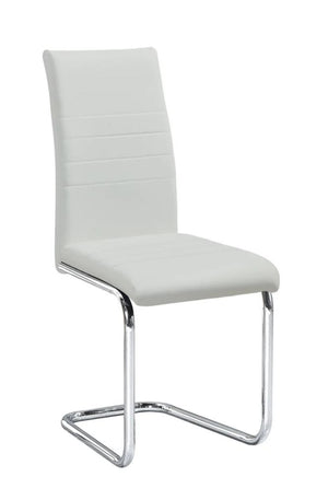Chair Only - White Vinyl with Chrome Metal Legs  C-1872