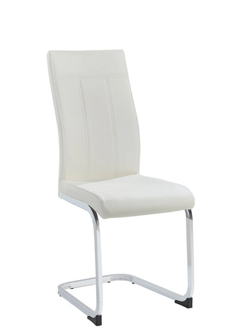 Chair Only - White Vinyl with Chrome Legs  C-1878