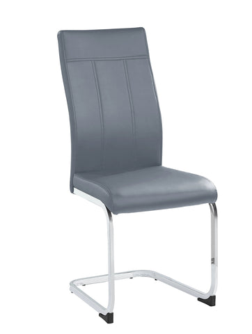 Chair Only - Grey Vinyl with Chrome Legs  C-1879