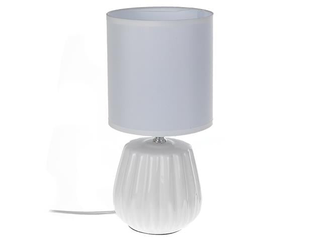 Ceramic Table Lamp with Shade - Various Colours  CAS 2003