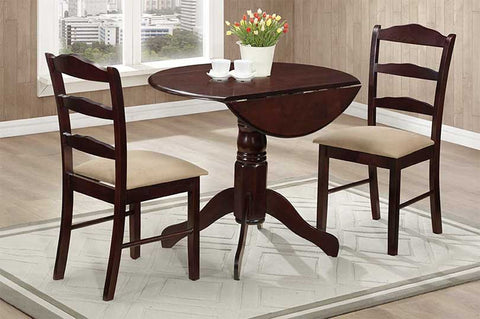 3 Pc Dining Set -  Wood Colour Espresso  IF-1002