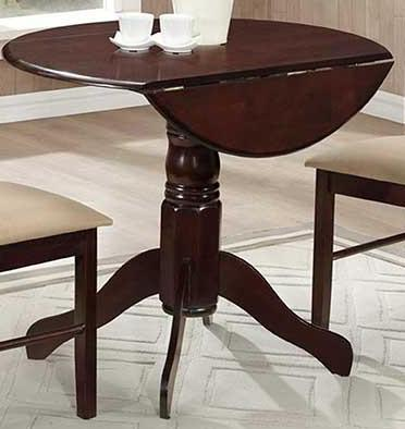 Table Only - Drop Leaf Wood Colour Espresso  T-1002
