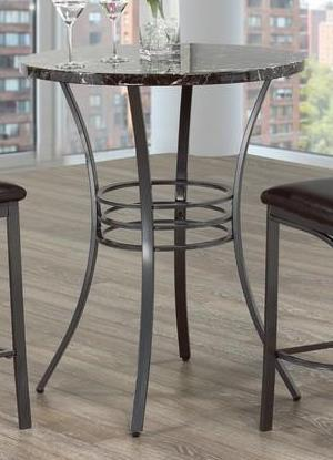 Round Pub Table Only - Faux Mable Top  T-1004