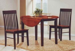 3PC Dining Set with Round Drop Leaf Table  IF-1012