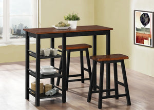 3 Pc Pub Set - Dirty Oak Top  IF-1049