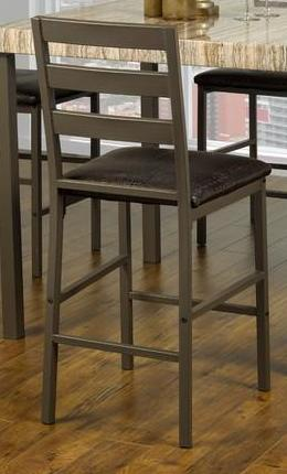 Bar Stool - Upholstered Seats with Medium Brown Legs  ST-1255
