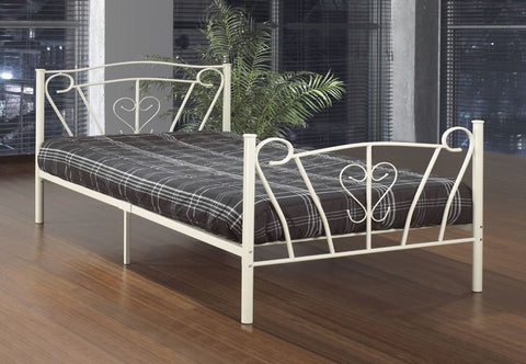 Bed - Off White Metal  IF-152