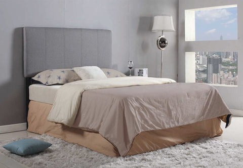 Headboard Only - Adjustable  - Grey Fabric  IF-157