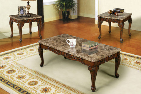 3 pc Coffee Table Set (Walnut)  IF-2070
