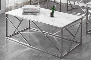 Coffee / End / Sofa Tables - White Marble Glass   IF-2360