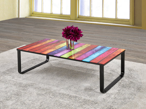 Coffee Table Only - Rainbow Glass IF-2676