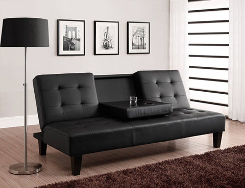 Klik Klak Futon - Black with Adjustable Back  IF-376