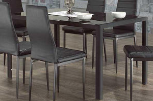 Dining Table Only with Black Glass  T-5054 / T-5053
