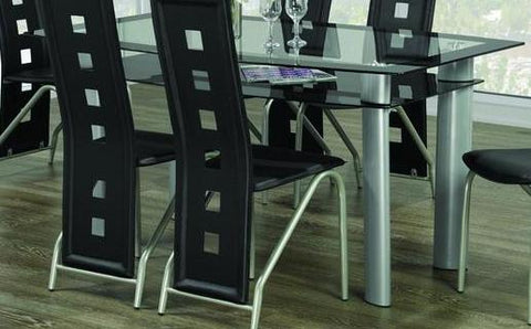 Dining Table Only with Glass Top T-5060