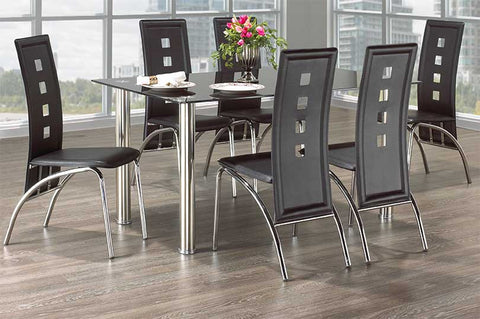 7 Pc Dining Set Table and 6 Chairs  IF-5068