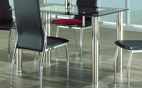 Dining Table Only with Chrome and Glass  T-5069