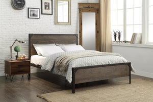Bed - Wood Panel with Steel Frame  IF-5210