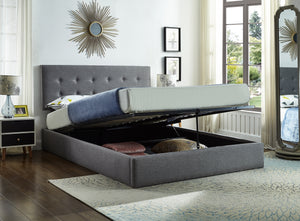 Lift Bed - Grey Fabric  IF-5445