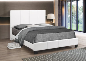 BED - White Vinyl with Padded Headboard IF-5471