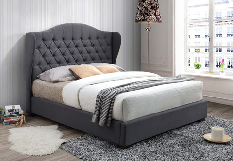 Bed - Grey Fabric  IF-5730