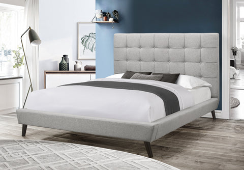 Bed - Light Grey Fabric  IF-5735