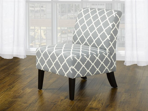Accent Chair (Quatre Foil Grey)  IF-6220