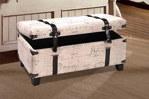 Storage Bench - French Fabric  IF-645