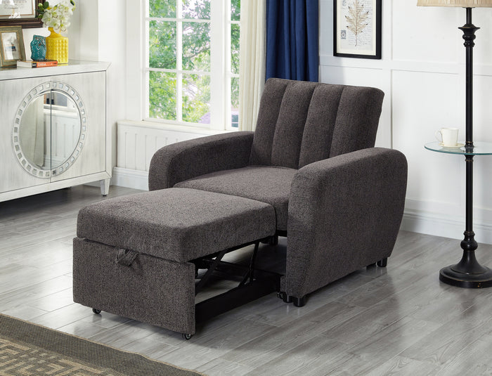 Grey Fabric Single Sofa Bed  IF-9060