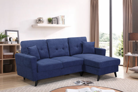 Blue Fabric Sofabed Sectional  IF-9099