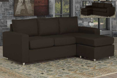 Sectional - Espresso or Grey Chrome Legs  IF-9320