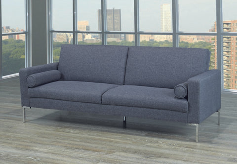 Sofa Bed 3-Position in Grey Fabric  IF-9375