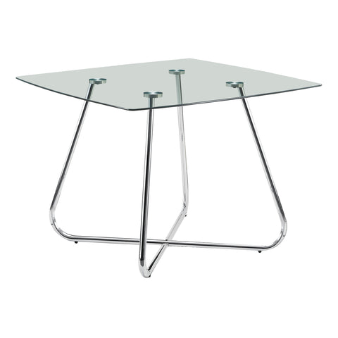 "DINING TABLE - 40""DIA CHROME WITH 8MM TEMPERED GLASS   MN-1070"