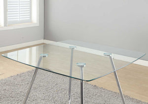 "DINING TABLE - 40""DIA CHROME WITH 8MM TEMPERED GLASS     MN-781070"
