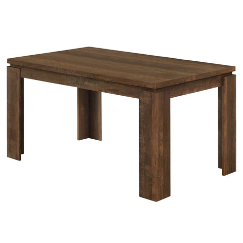 "DINING TABLE - 36""X 60"" / BROWN RECLAIMED WOOD-LOOK  MN-1086"