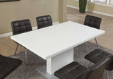 "DINING TABLE - 35""X 60"" / HIGH GLOSSY WHITE    MN-1090"