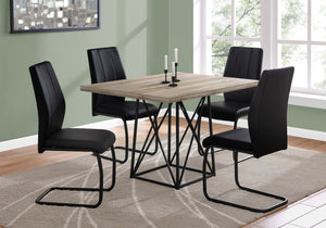 "DINING TABLE - 36""X 48"" / TAUPE RECLAIMED WOOD-LOOK/BLACK    MN-1109"