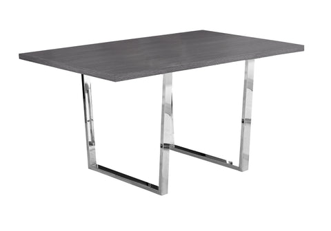 "DINING TABLE - 36""X 60"" / GREY / CHROME METAL  I-1120"