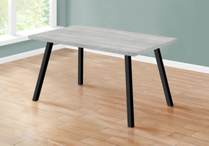 "DINING TABLE - 36""X 60"" / GREY / BLACK METAL    MN-1136"