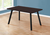 "DINING TABLE - 36""X 60"" / CAPPUCCINO / BLACK METAL  MN-1138"
