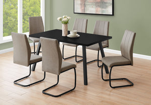 "DINING TABLE - 36""X 60"" / BLACK / BLACK METAL    MN-1139"