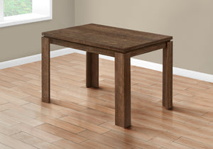 "DINING TABLE - 32""X 48"" / BROWN RECLAIMED WOOD-LOOK    MN-121163"