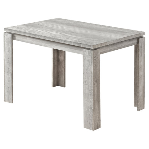 "DINING TABLE - 32""X 48"" / GREY RECLAIMED WOOD-LOOK  MN-1164"