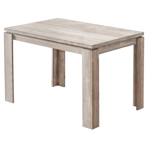 "DINING TABLE - 32""X 48"" / TAUPE RECLAIMED WOOD-LOOK  MN-1165"