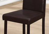 "DINING CHAIR - 2PCS / 36""H DARK BROWN LEATHER-LOOK  MN-1172"