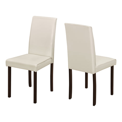 "DINING CHAIR - 2PCS / 36""H IVORY LEATHER-LOOK  I-1174"