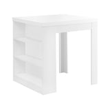 "DINING TABLE - 32""X 36"" / WHITE COUNTER HEIGHT  I-1345"