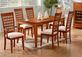 "DINING CHAIR - 2PCS / AMARETTO ""WEAVE BACK"" STYLE   MN-1403"