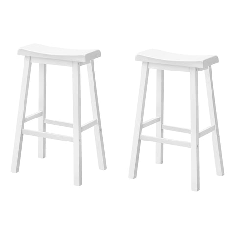 "BARSTOOLS -  SET OF 2  24""H / WHITE SADDLE SEAT  I-1533"